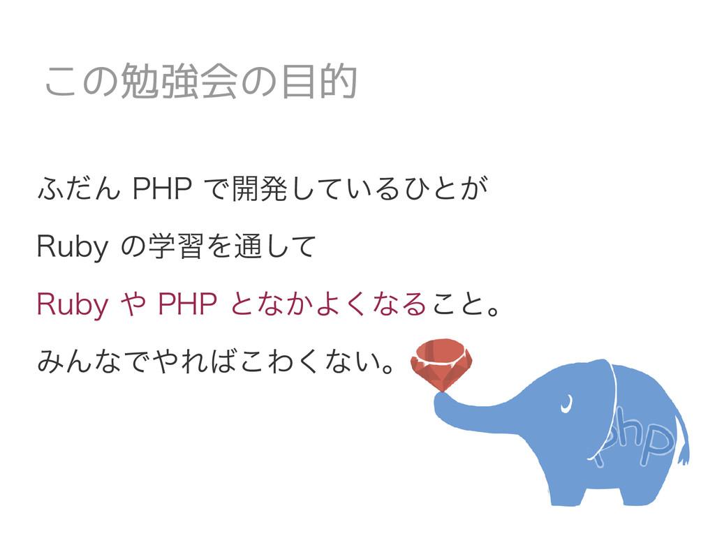 ふだん PHP で開発しているひとが Ruby の学習を通して Ruby や PHP となかよ...