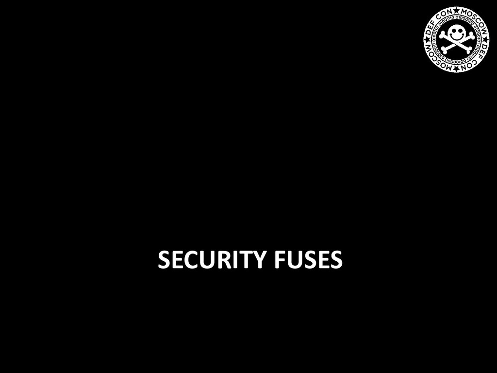 SECURITY FUSES