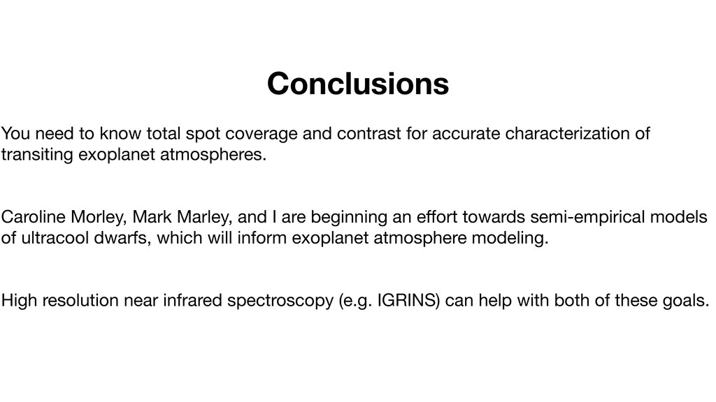 Conclusions You need to know total spot coverag...