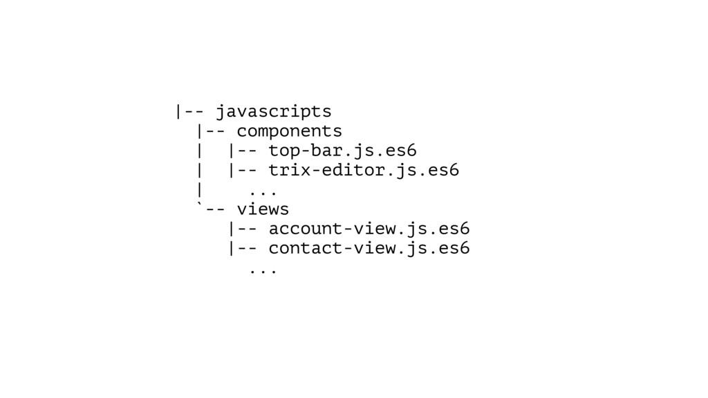 |-- javascripts |-- components | |-- top-bar.js...