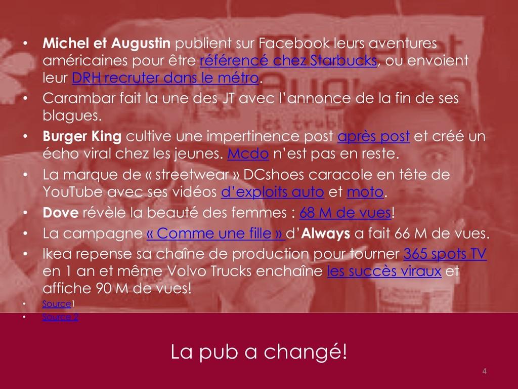 La pub a changé! 4 • Michel et Augustin publien...