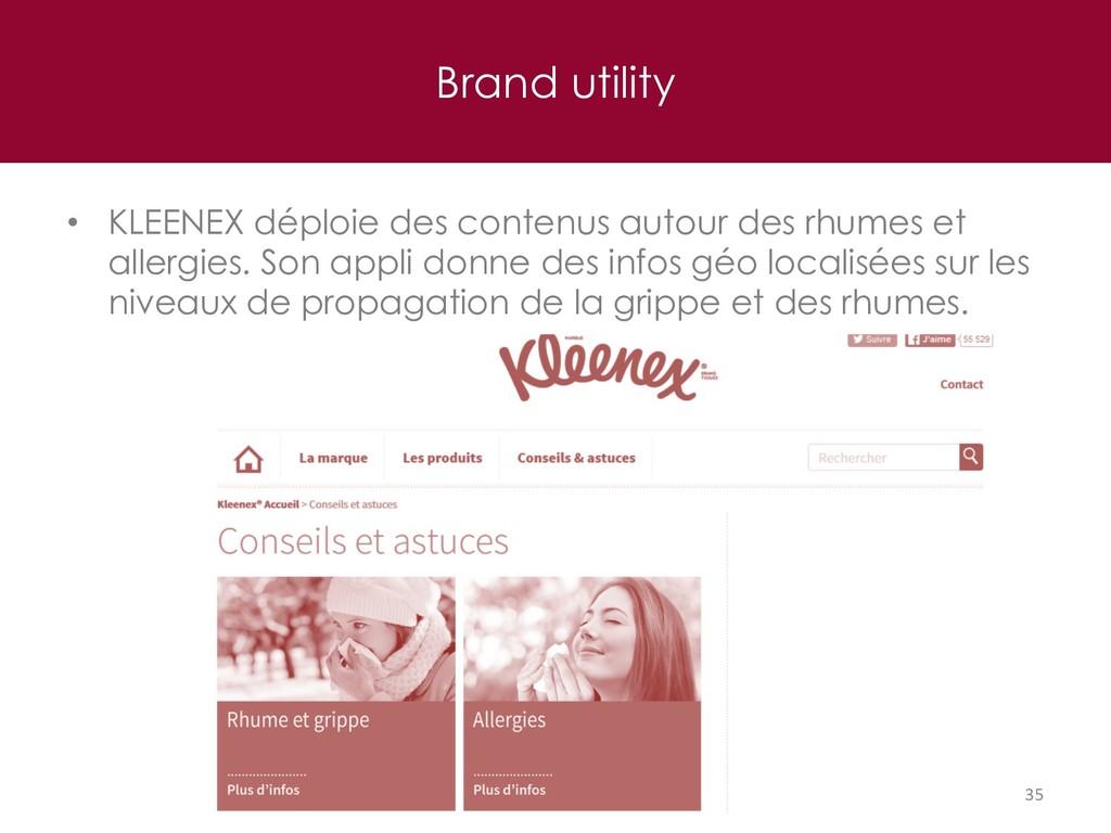 Brand utility 35 • KLEENEX déploie des contenus...