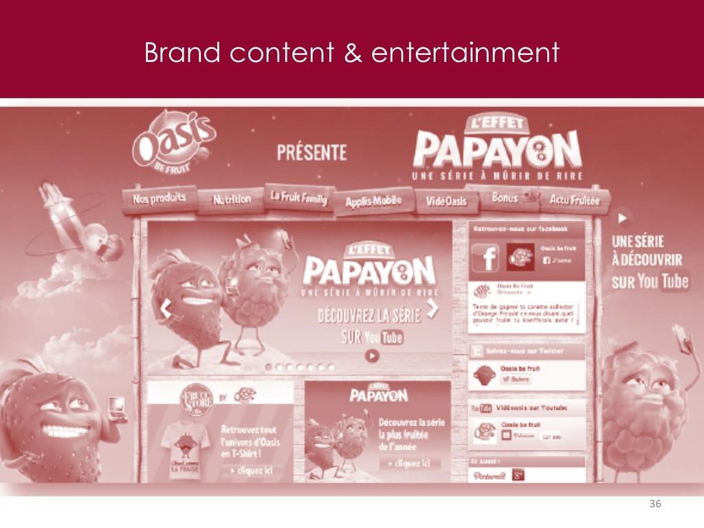 Brand content & entertainment 36