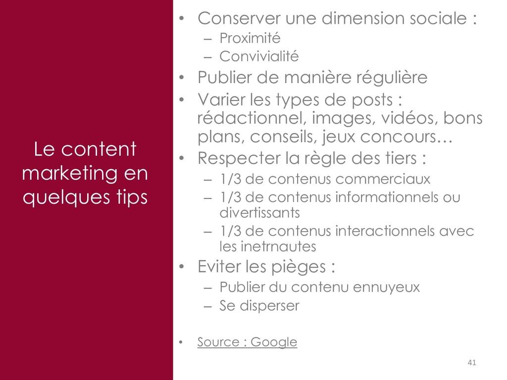 41 Le content marketing en quelques tips • Cons...