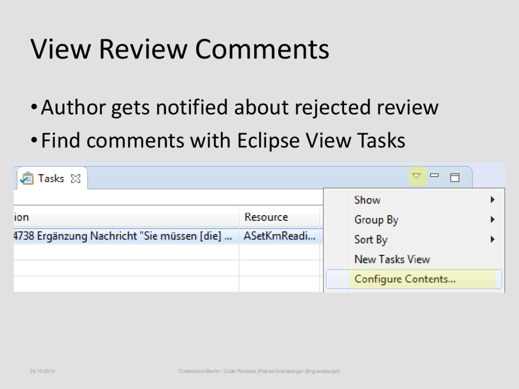 View Review Comments •Author gets notified abou...