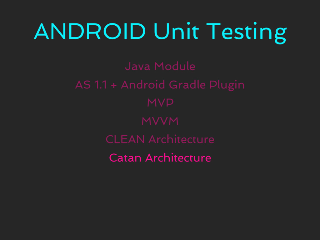 ANDROID Unit Testing Java Module MVP CLEAN Arch...