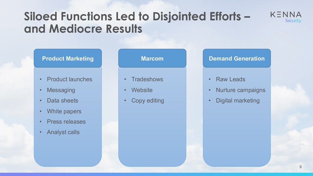 9 Siloed Functions Led to Disjointed Efforts – ...