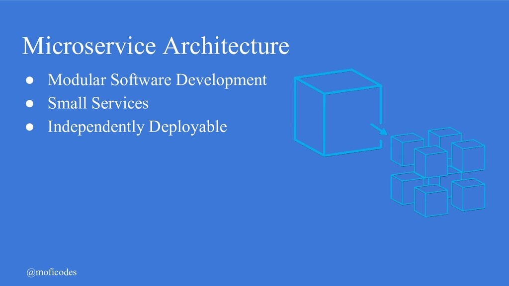 @moficodes Microservice Architecture ● Modular ...