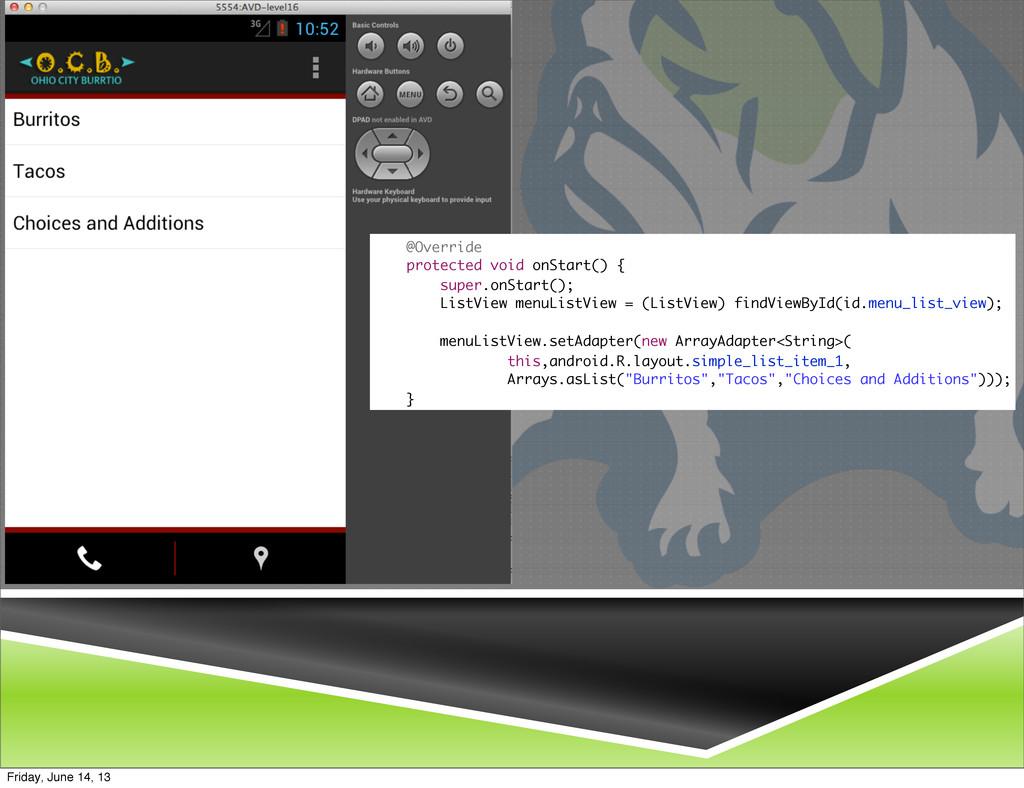 @Override protected void onStart() { super.onSt...