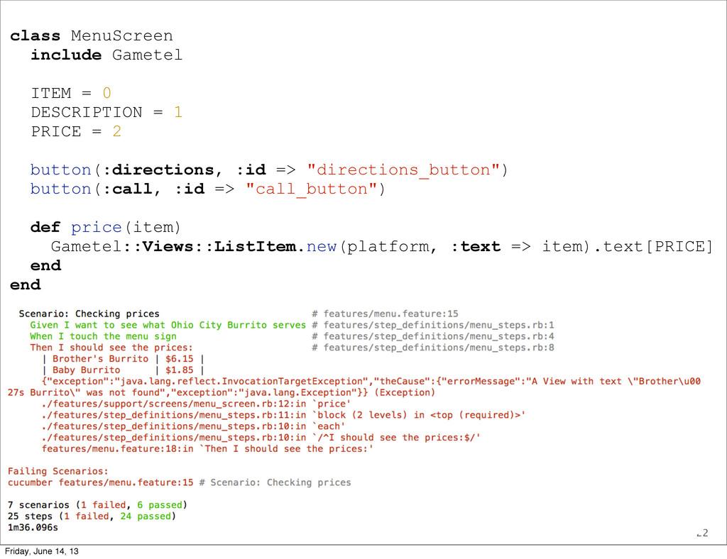22 class MenuScreen include Gametel ITEM = 0 DE...