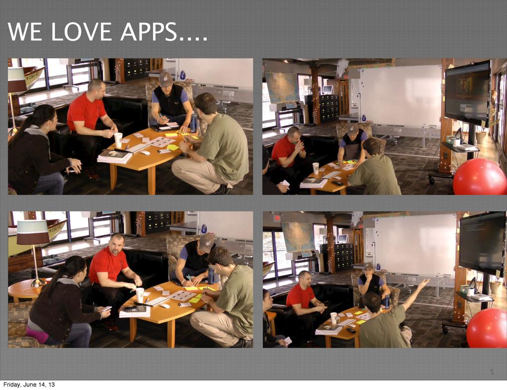 5 WE LOVE APPS.... Friday, June 14, 13