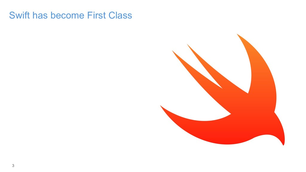 3 Swift has become First Class