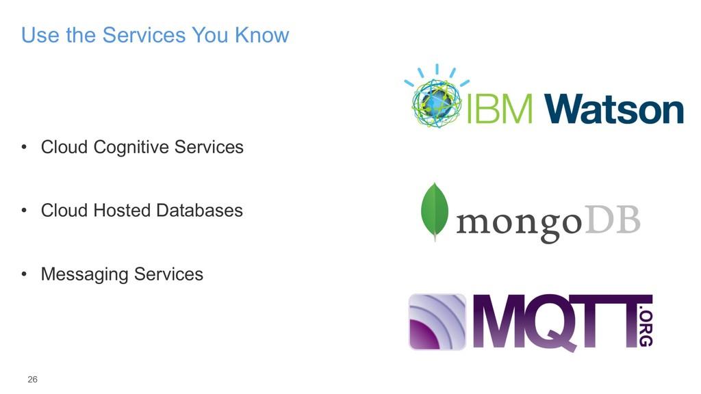 • Cloud Cognitive Services • Cloud Hosted Datab...