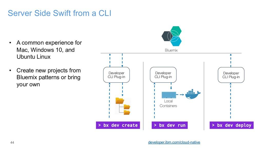 44 Server Side Swift from a CLI developer.ibm.c...