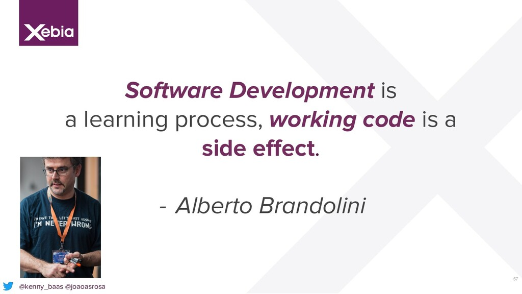 57 Software Development is a learning process, ...