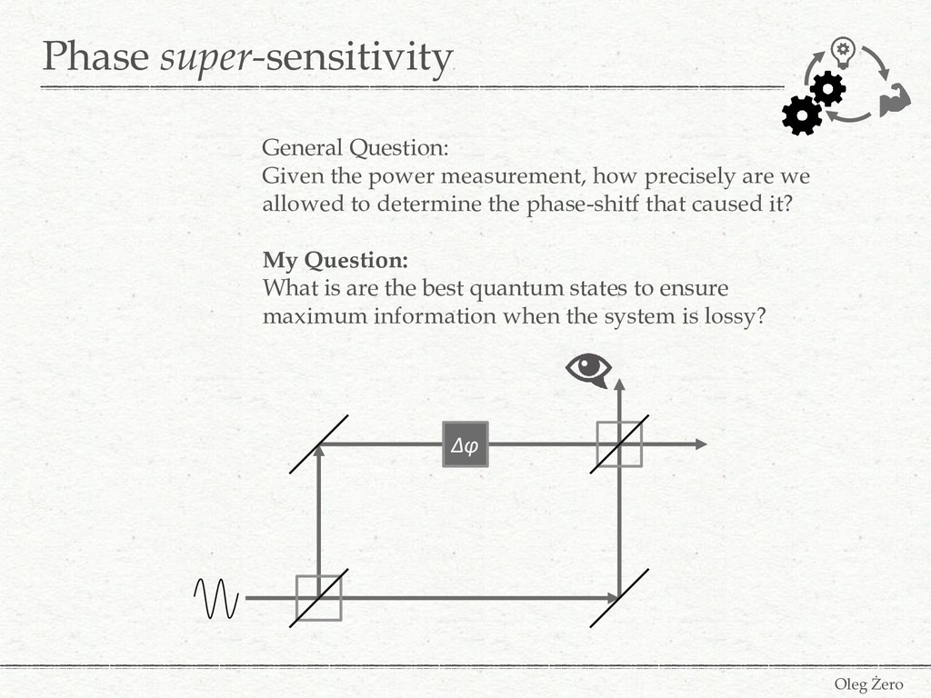 Phase super-sensitivity Oleg Żero General Quest...