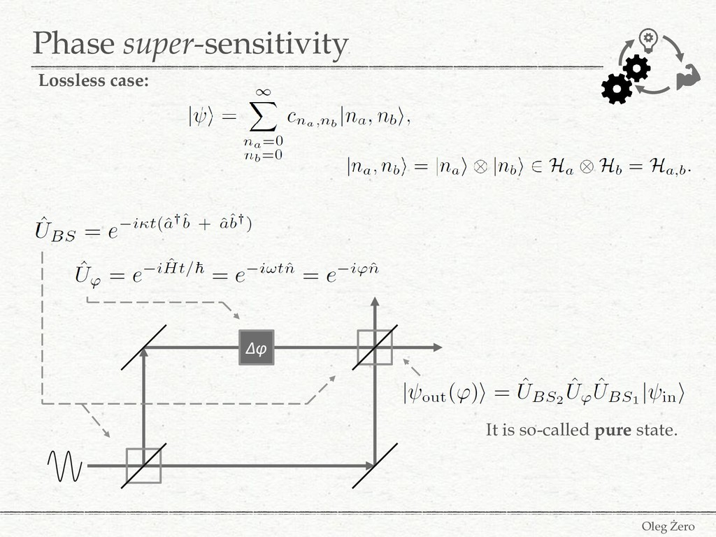 Phase super-sensitivity Oleg Żero Lossless case...