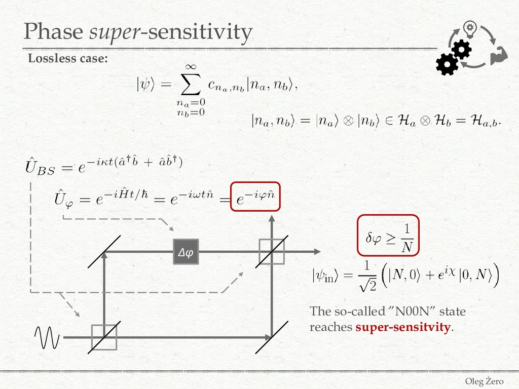Phase super-sensitivity Oleg Żero Δφ The so-cal...