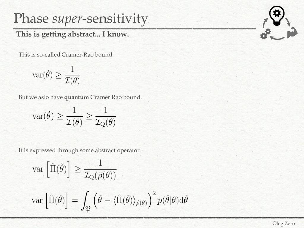 Phase super-sensitivity Oleg Żero This is getti...