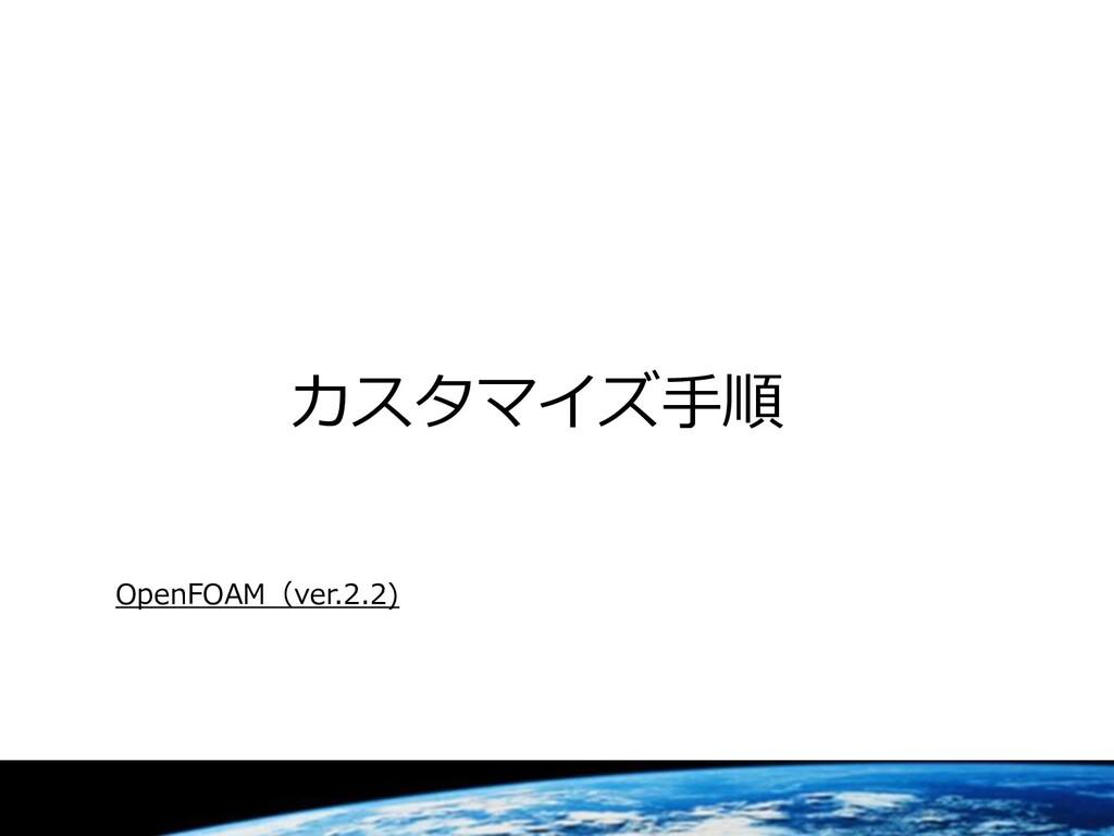カスタマイズ手順 OpenFOAM(ver.2.2)