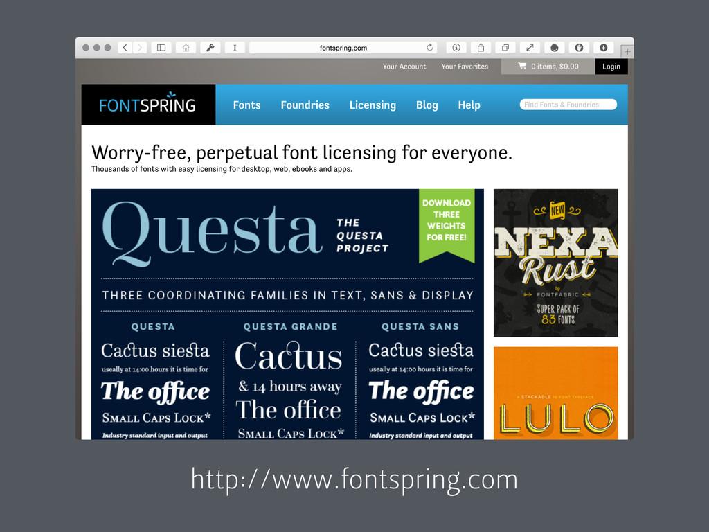 http://www.fontspring.com