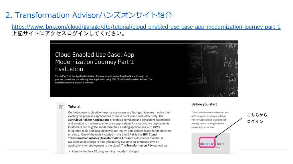 2. Transformation Advisorハンズオンサイト紹介e https://ww...