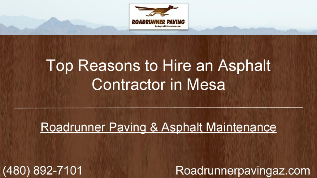 Top Reasons to Hire an Asphalt Contractor in Me...