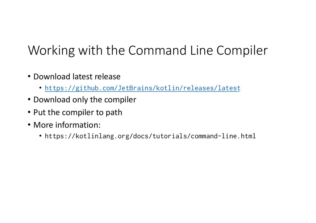 Working with the Command Line Compiler • Downlo...