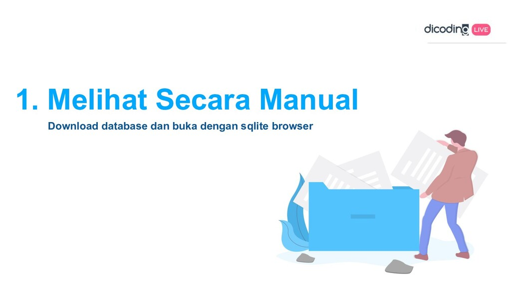 1. Melihat Secara Manual Download database dan ...