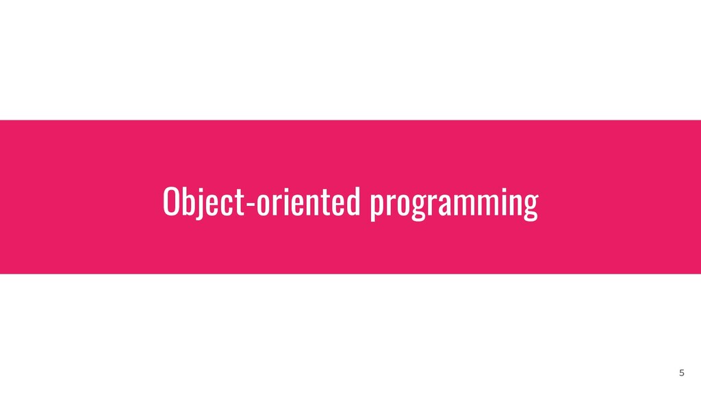 Object-oriented programming 5