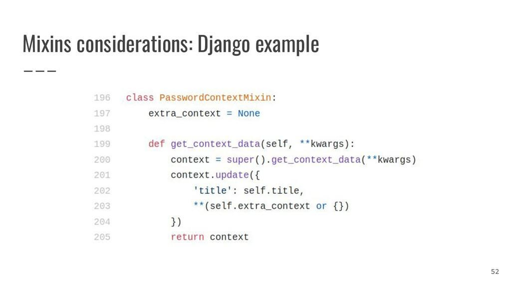 Mixins considerations: Django example 52