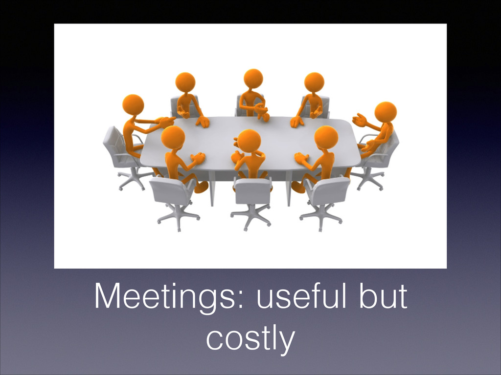 Meetings: useful but costly
