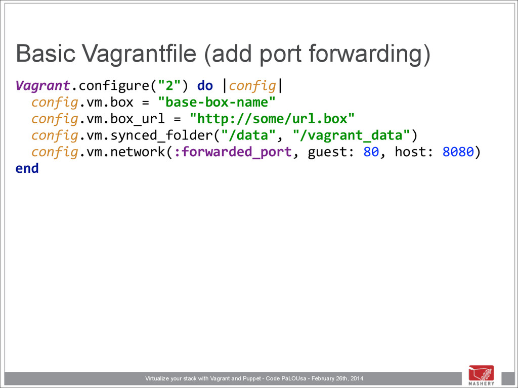Virtualize your stack with Vagrant and Puppet -...