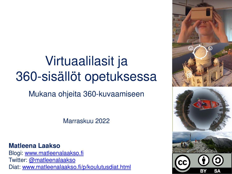 Virtuaalilasit ja 360-sisällöt opetuksessa Tamm...