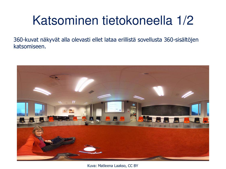Ricoh Thetan kuvien ja videoiden katsominen läp...