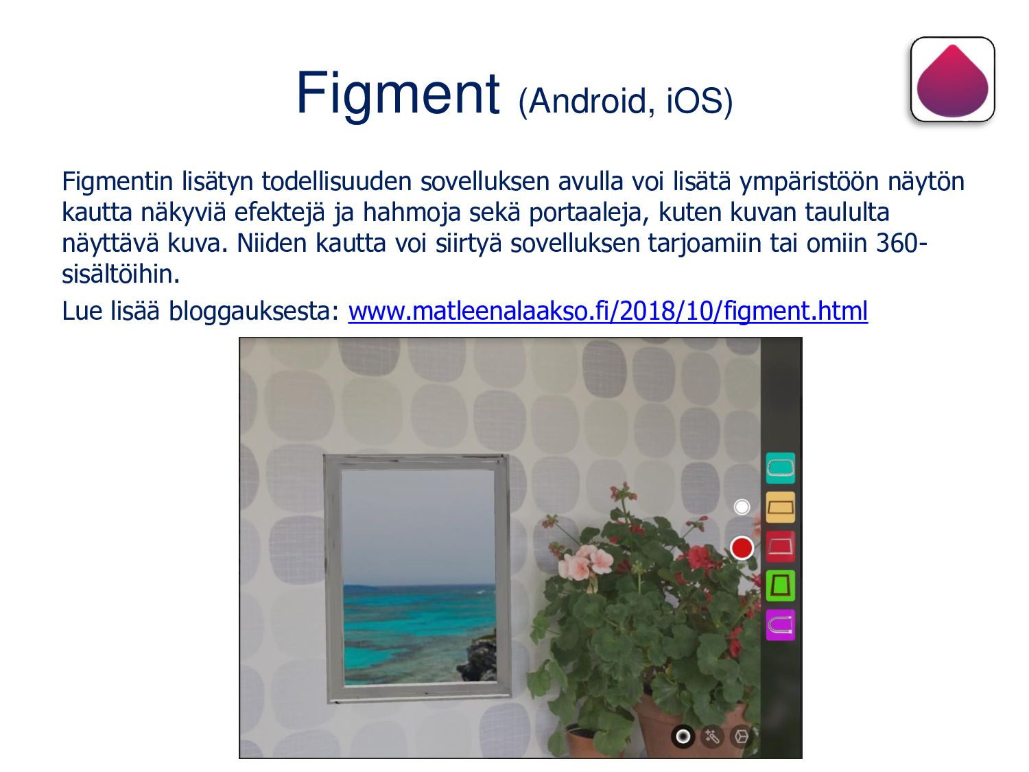 Figment (Android, iOS) Figmentin lisätyn todell...
