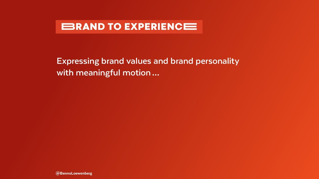@BennoLoewenberg Expressing brand values and br...