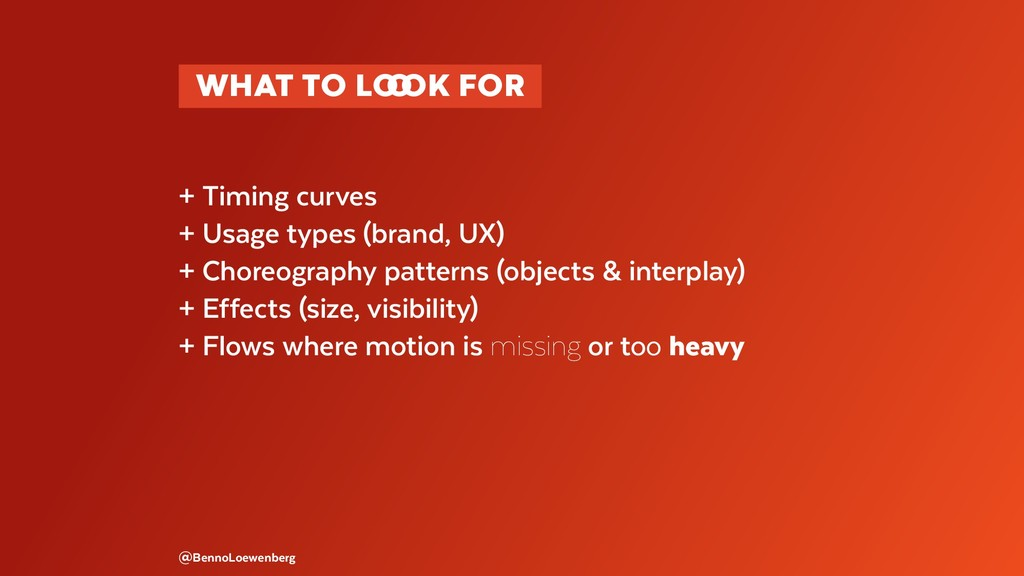 + Timing curves + Usage types (brand, UX) + Cho...
