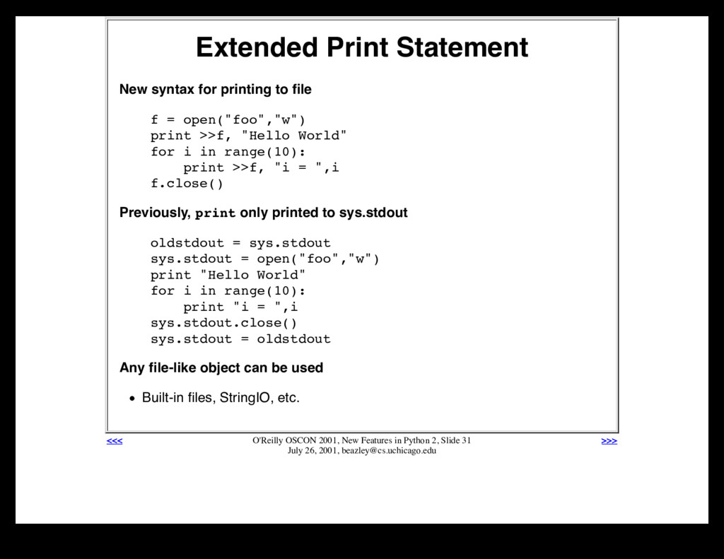 Extended Print Statement New syntax for printin...
