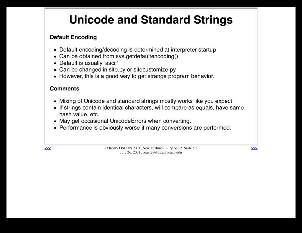 Unicode and Standard Strings Default Encoding D...