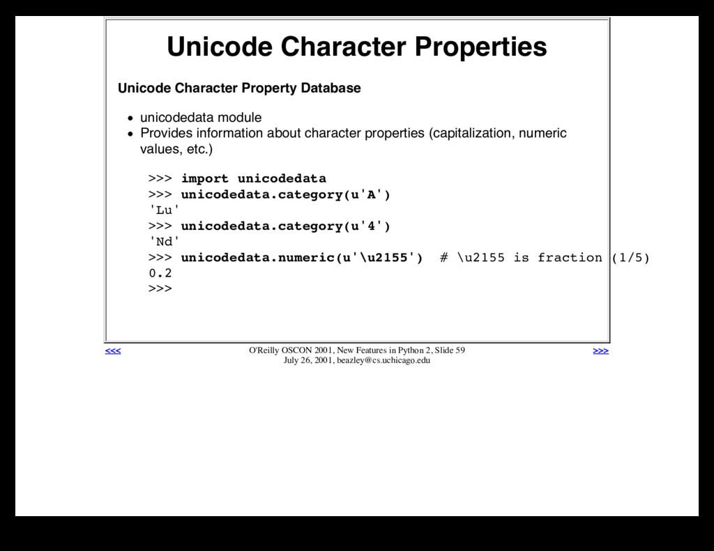Unicode Character Properties Unicode Character ...