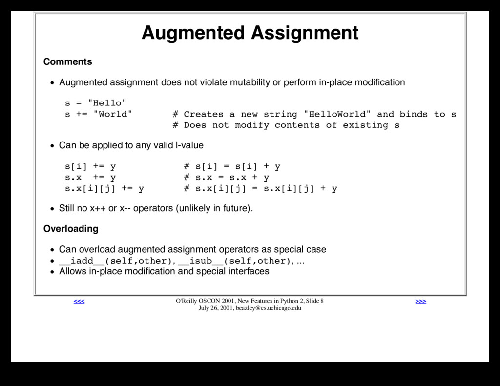 Augmented Assignment Comments Augmented assignm...