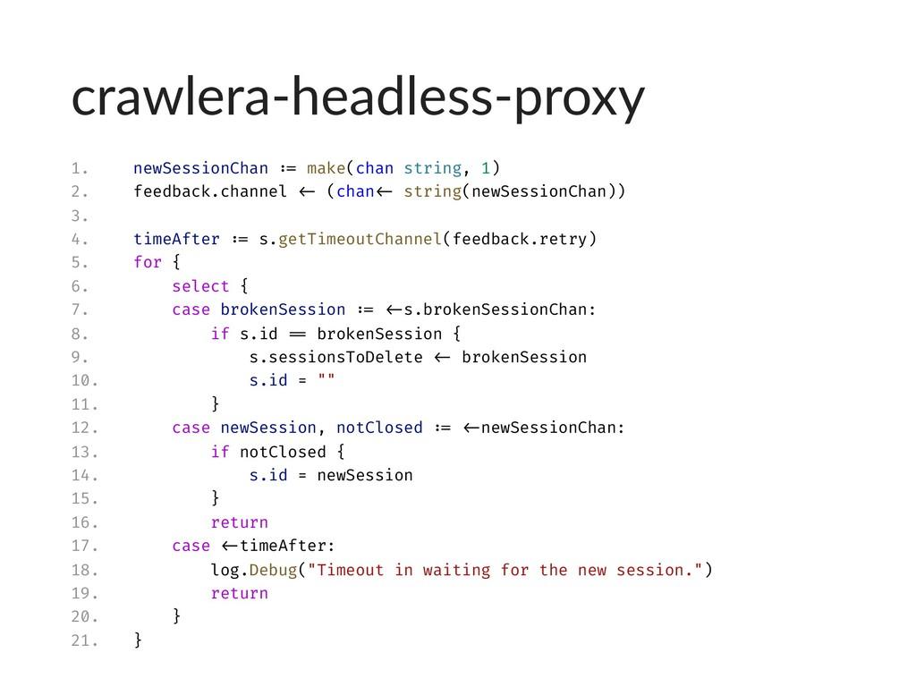 crawlera-headless-proxy 1. newSessionChan := ma...