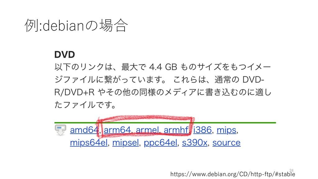 例:debianの場合 https://www.debian.org/CD/http-ftp/...