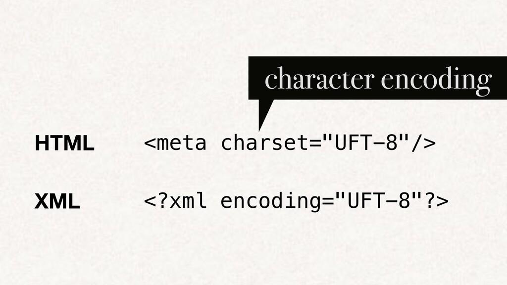 "HTML <meta charset=""UFT-8""/> character encoding..."