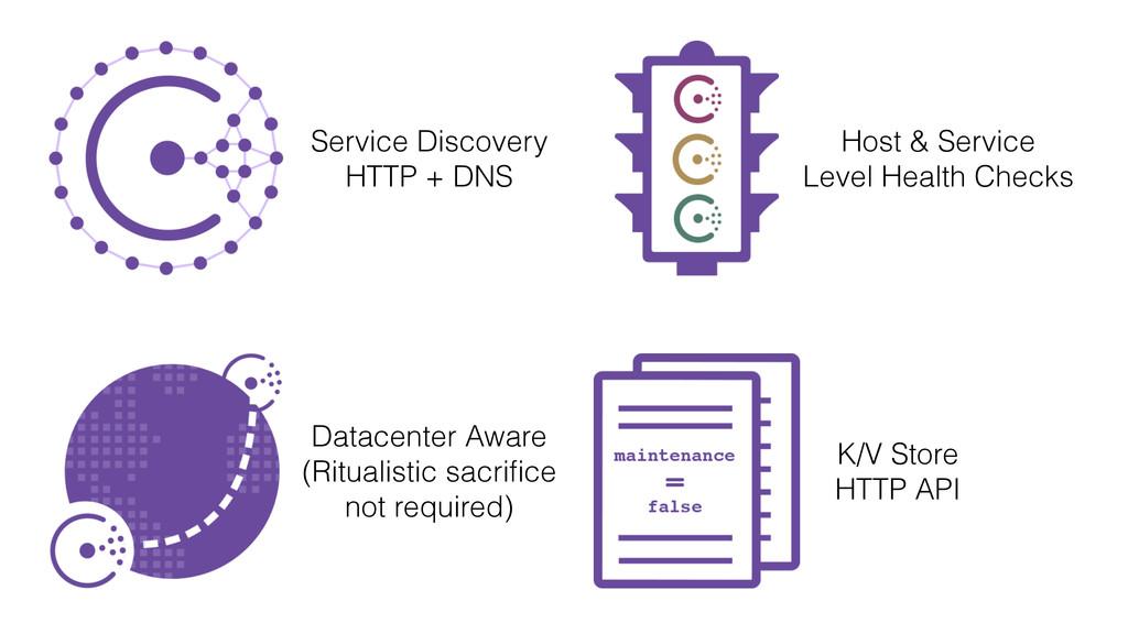 Service Discovery HTTP + DNS Datacenter Aware (...