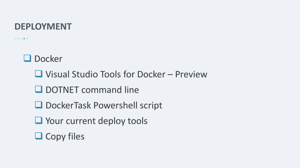 DEPLOYMENT  Docker  Visual Studio Tools for D...