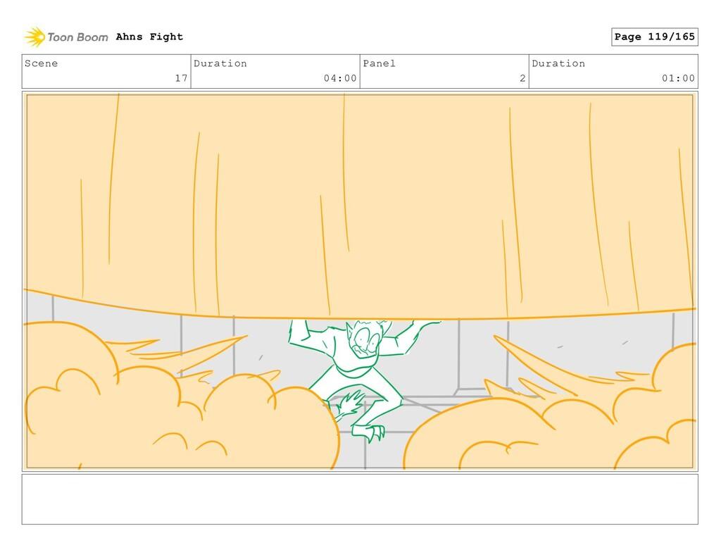 Scene 17 Duration 04:00 Panel 2 Duration 01:00 ...