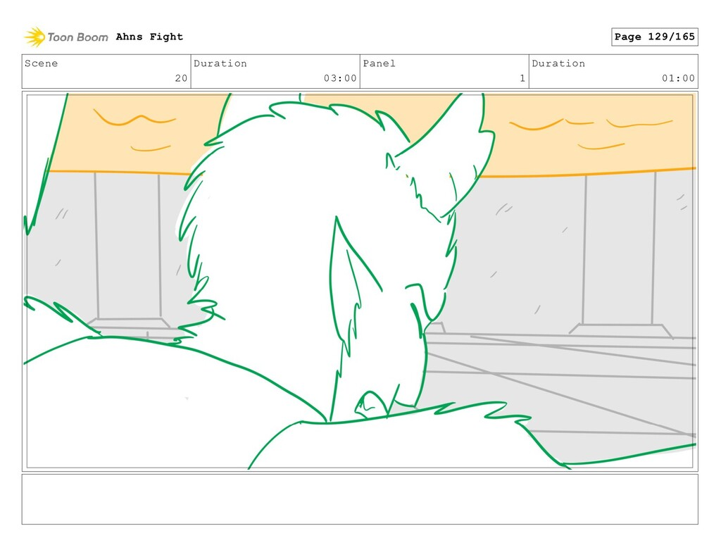 Scene 20 Duration 03:00 Panel 1 Duration 01:00 ...