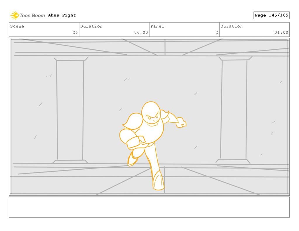 Scene 26 Duration 06:00 Panel 2 Duration 01:00 ...